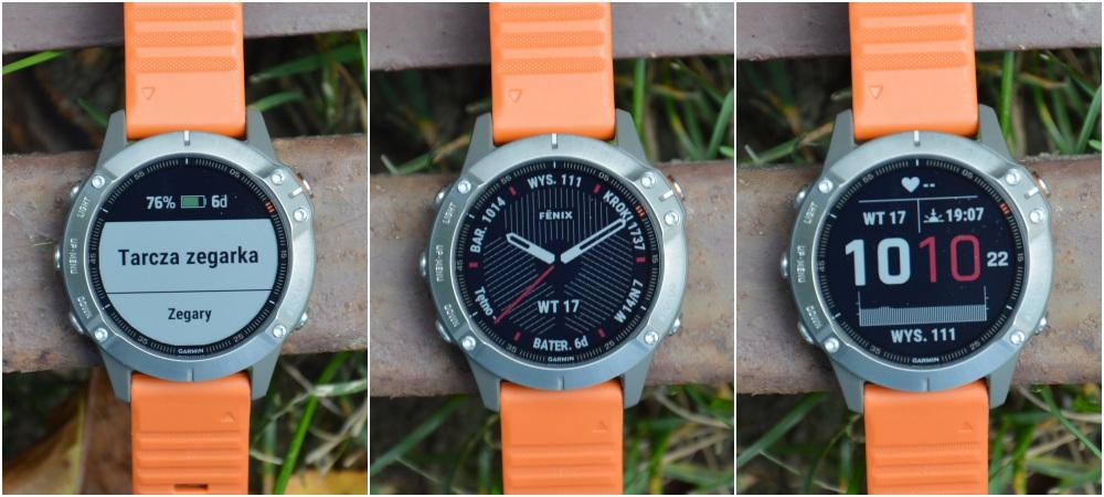Garmin Fenix 6 tarcza zegarka