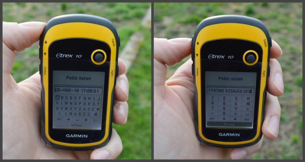 pomiar powierzchni Garmin GPS