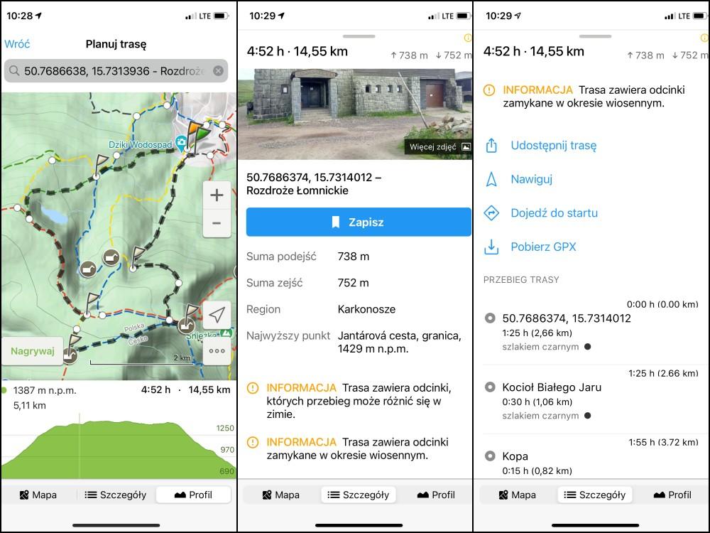 aplikacja mapa turystyczna