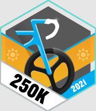 250km rowerem odznaka i wyzwanie Garmin